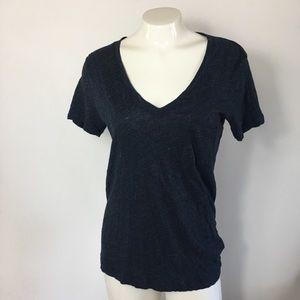 Madewell shirt top sz Small V neck women's